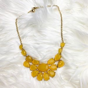 Yellow + Gold Statement Necklace